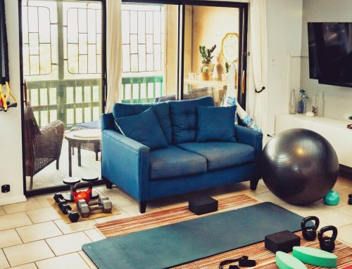 How do you set up a home workout space?
